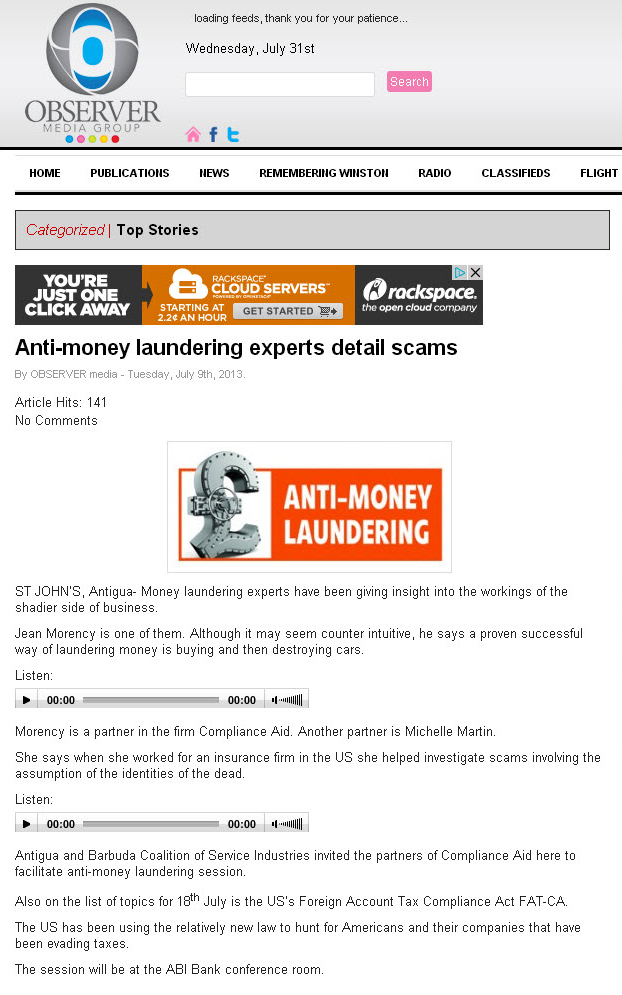 ComplianceAid discussed anti-money laundering red flags